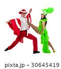 Gypsy flamenco dancer couple dancing against 30645419