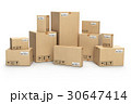 Cardboard boxes isolated on white.  30647414