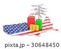 旅行 アメリカ マップのイラスト 30648450