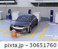 電気自動車 充電スタンド チャージポイントのイラスト 30651760