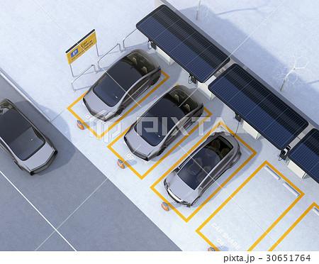 ソーラーパネル、急速充電器が備えるカーシェアリング専用駐車場のイメージ 30651764