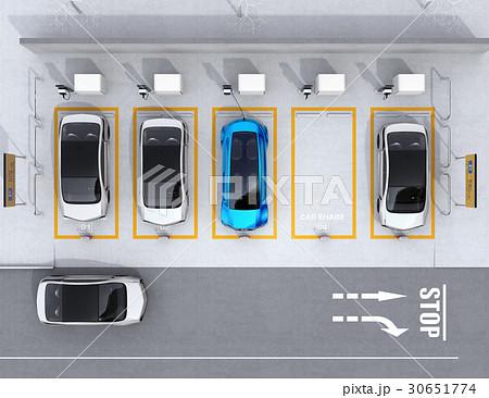 カーシェアリング専用駐車場の鳥瞰イメージ 30651774