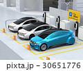 電気自動車 充電スタンド チャージポイントのイラスト 30651776