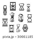 Hourglass, sandglass, sand clock or watch icon set 30661185