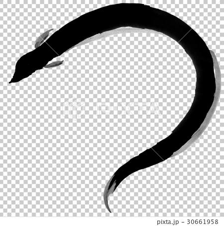 鳝鱼 印度水墨画 毛笔绘画 30661958