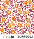 花柄 ハイビスカス パイナップルのイラスト 30665958