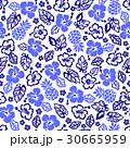 花柄 ハイビスカス パイナップルのイラスト 30665959