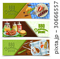 BBQ Summer Picnic Banners Set 30666557