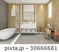 beech wood bathroom with light from window 30666681