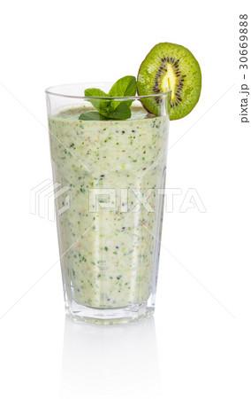 Fruity spinach milkshakeの写真素材 [30669888] - PIXTA