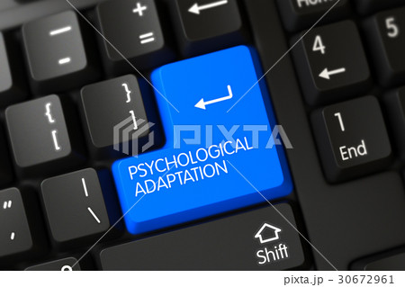 Psychological Adaptation - Modern Keypad. 3D. 30672961