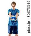 handball player teenager boy isolated 30673349