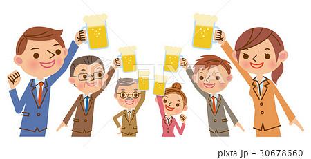 生ビールで乾杯 30678660