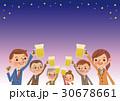 ビアホール・ビアガーデンイメージ 生ビールで乾杯 30678661