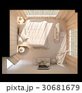 ベッドルーム 寝室 立体のイラスト 30681679