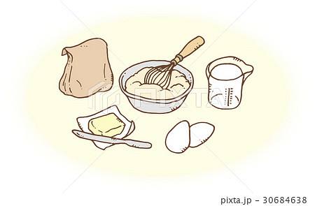 ホットケーキ作りの準備 30684638