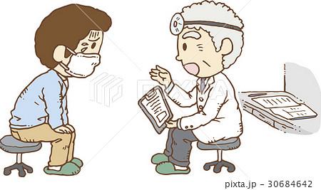 病院で診断を受ける男性 30684642