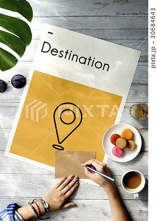 Destination Journey Location Map Route Sign Icon 30684643