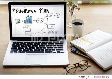 Business plan flowchart drawing sketch 30684645