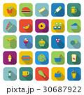 ホットドック ベクトル 食のイラスト 30687922