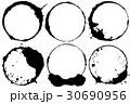日食のような円 居酒屋 和風ロゴ用 30690956