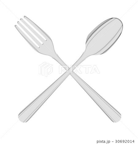 cross steel spoon and folk logo vector 30692014