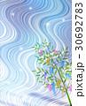 七夕 天の川 夜空のイラスト 30692783