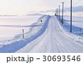 雪道 北海道 富良野の写真 30693546