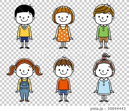 兒童:男孩和女孩,朋友,同事 30694443