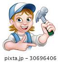 大工 大工さん 木工のイラスト 30696406
