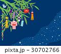 七夕 七夕飾り 笹飾りのイラスト 30702766
