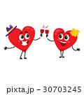 ハート ハートマーク 心臓のイラスト 30703245