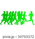 ランナー 走者 セットのイラスト 30703372