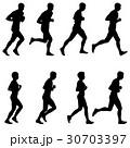 ランナー 走者 セットのイラスト 30703397