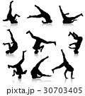 ダンス 人影 影のイラスト 30703405
