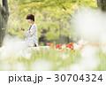 カジュアル キャリアウーマン 花 30704324