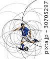 Abstract image of soccer player with ball 30705297