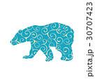 Bear wild color silhouette animal 30707423