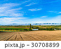 田園風景 美瑛の丘 秋の写真 30708899