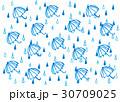 雨と傘の背景 30709025