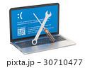 PC ノートパソコン ラップトップのイラスト 30710477