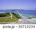 角島大橋 海 青空の写真 30713234