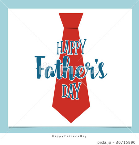 happy fathers day card design with big tie vector illustrationの