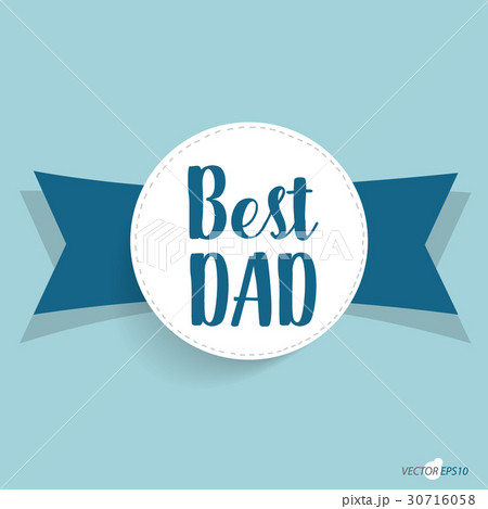 Happy fathers day card design. Vector Illustrationのイラスト素材 [30716058] - PIXTA
