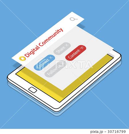 Digital Communication Social Media Graphic Words Iconsのイラスト素材 [30716799] - PIXTA