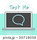 HELLO メール メッセージのイラスト 30718038