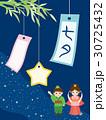 七夕 天の川 織姫のイラスト 30725432