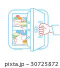 冷蔵庫 冷凍庫 冷房機器のイラスト 30725872
