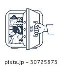 冷蔵庫 冷凍庫 冷房機器のイラスト 30725873