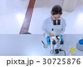 Scientist working with microscope in laboratory 30725876